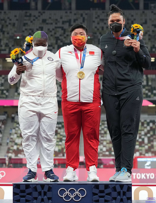 女子铅球——巩立姣获得金牌